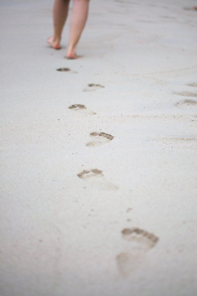 footsteps, go, reprint